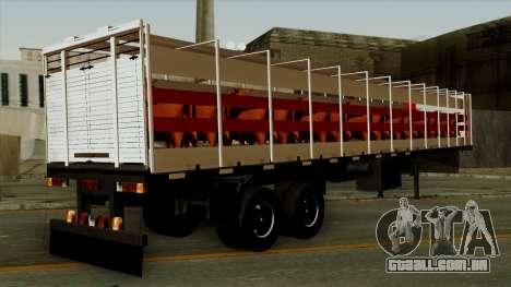Trailer Cows para GTA San Andreas esquerda vista