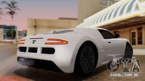 GTA 5 Adder Tire Dirt para GTA San Andreas esquerda vista