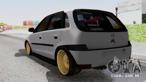 Opel Corsa Air para GTA San Andreas esquerda vista