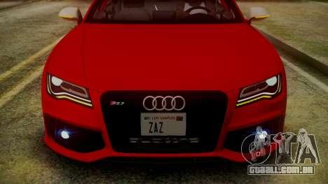Audi RS7 2014 para GTA San Andreas vista inferior