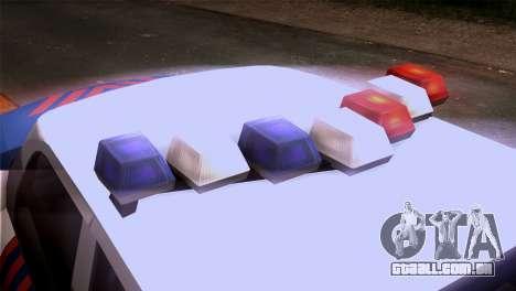 Indonesian Police Type 2 para GTA San Andreas vista traseira