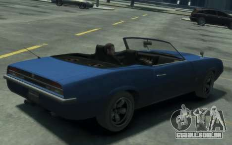 Declasse Vigero Cabrio para GTA 4 esquerda vista