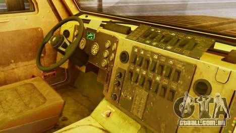 MRAP Cougar from CoD Black Ops 2 para GTA San Andreas vista direita