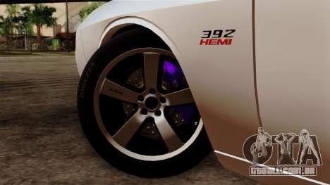 Dodge Challenger SRT8 392 2012 Stock Version 1.0 para GTA San Andreas traseira esquerda vista
