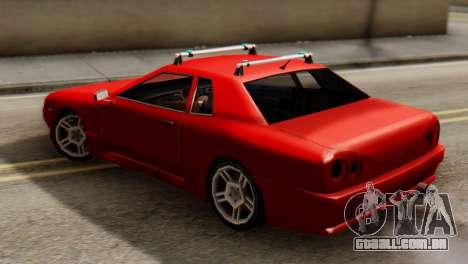 Elegy Korch Stock Wheel para GTA San Andreas traseira esquerda vista