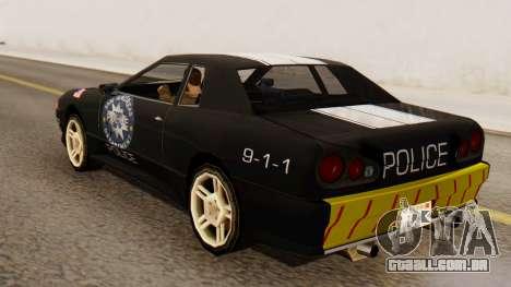 Elegy Police Edition para GTA San Andreas esquerda vista