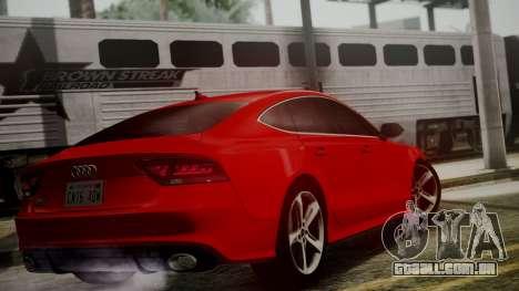 Audi RS7 2014 para GTA San Andreas esquerda vista