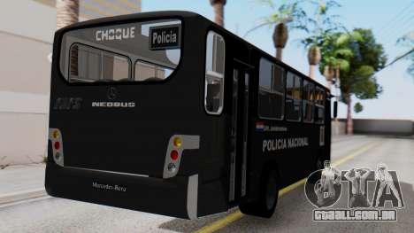 Mercedes-Benz Neobus Paraguay National Police para GTA San Andreas esquerda vista