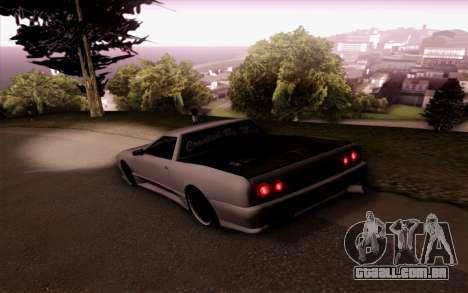 Elegy Pickup By Next para GTA San Andreas esquerda vista