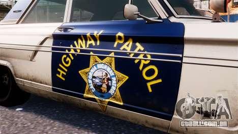 Ford Fairlane 1964 Police para GTA 4 vista de volta