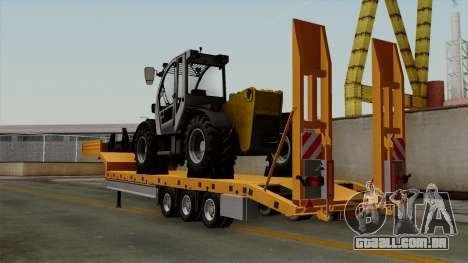 Trailer Fliegl Cargo para GTA San Andreas esquerda vista