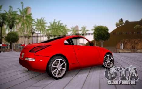 Nissan 350Z SA Style para GTA San Andreas traseira esquerda vista