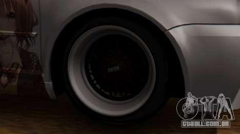 Volkswagen Golf R32 JDM Itasha para GTA San Andreas traseira esquerda vista
