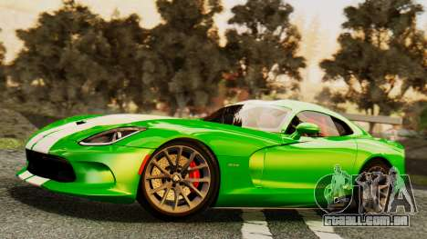 Dodge Viper SRT GTS 2013 IVF (MQ PJ) HQ Dirt para as rodas de GTA San Andreas