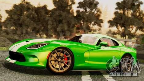 Dodge Viper SRT GTS 2013 IVF (MQ PJ) HQ Dirt para as rodas de GTA San Andreas
