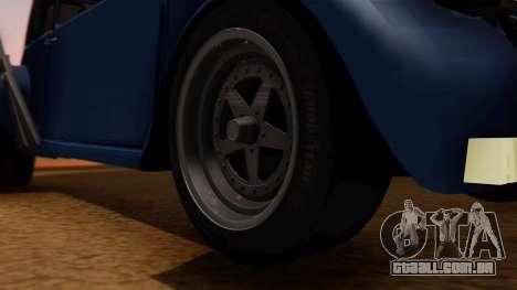Citroen 2CV (jian) Drag Style Edition para GTA San Andreas traseira esquerda vista