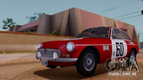 MGB GT (ADO23) 1965 HQLM para GTA San Andreas vista superior