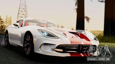 Dodge Viper SRT GTS 2013 IVF (MQ PJ) HQ Dirt para GTA San Andreas vista direita