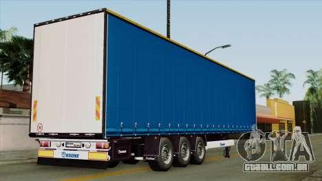Trailer Krone Profiliner v1 para GTA San Andreas esquerda vista