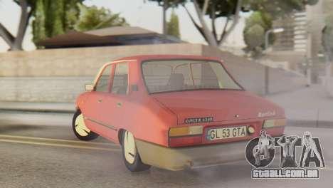 Dacia 1310 Berlina v2 para GTA San Andreas traseira esquerda vista