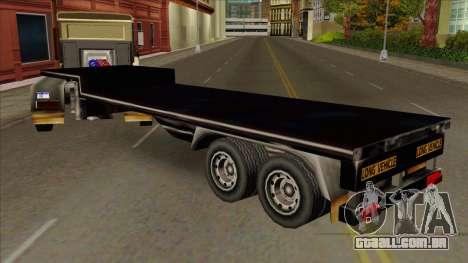 Flat Trailer para GTA San Andreas
