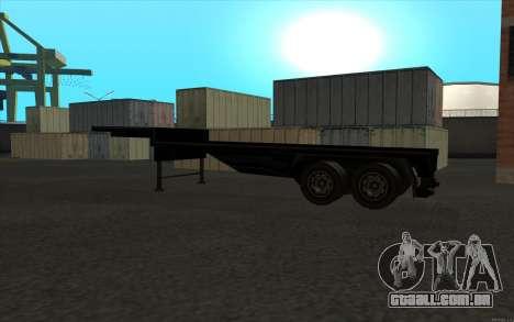 Flat Trailer para GTA San Andreas vista direita