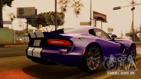 Dodge Viper SRT GTS 2013 IVF (HQ PJ) HQ Dirt para GTA San Andreas esquerda vista