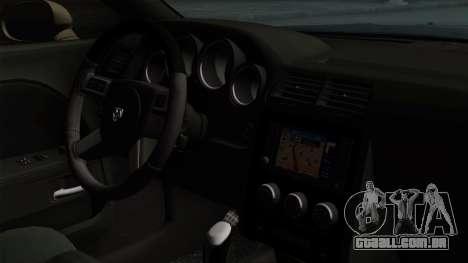Dodge Challenger GT S para GTA San Andreas traseira esquerda vista