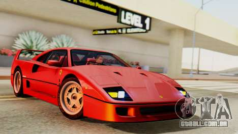 Ferrari F40 1987 with Up Lights para GTA San Andreas
