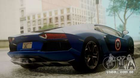 Lamborghini Aventador LP 700-4 Captain America para GTA San Andreas vista interior