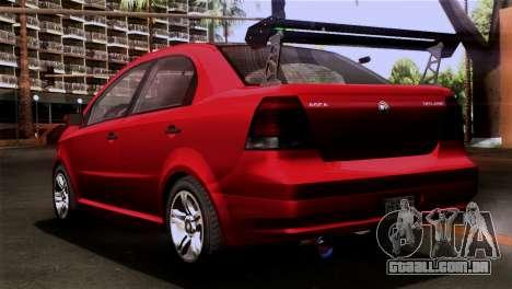 GTA 5 Declasse Asea para GTA San Andreas esquerda vista