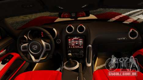 Dodge Viper SRT GTS 2013 IVF (MQ PJ) HQ Dirt para vista lateral GTA San Andreas