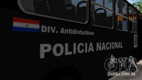 Mercedes-Benz Neobus Paraguay National Police para GTA San Andreas vista interior
