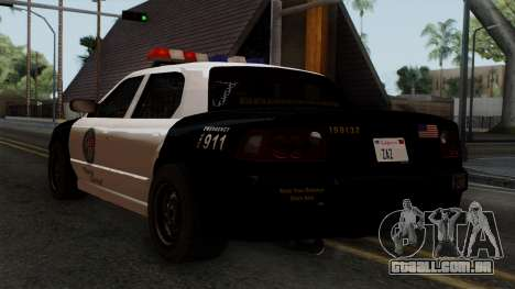 GTA 5 LS Police Car para GTA San Andreas esquerda vista