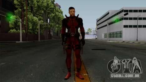 Deadpool without Mask para GTA San Andreas segunda tela