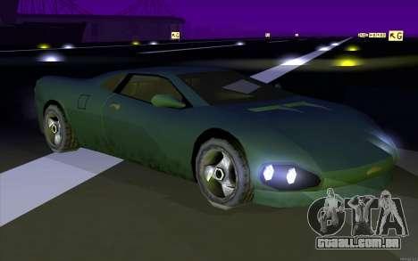 GTA 3 Infernus SA Style v2 para GTA San Andreas traseira esquerda vista