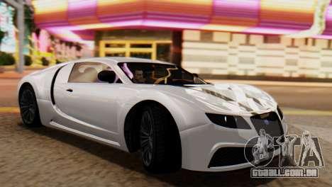 GTA 5 Adder Tire Dirt para GTA San Andreas traseira esquerda vista
