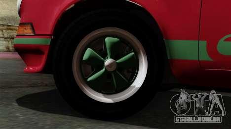 Porsche 911 Carrera RS 2.7 Sport (911) 1972 IVF para GTA San Andreas traseira esquerda vista