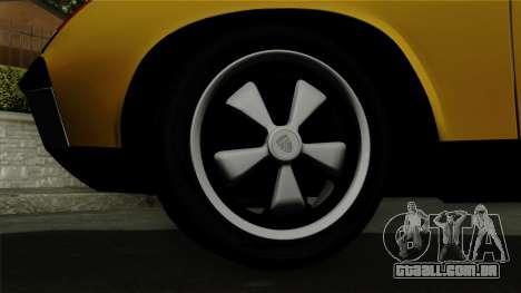 Porsche 914 1970 para GTA San Andreas traseira esquerda vista