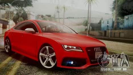 Audi RS7 2014 para GTA San Andreas
