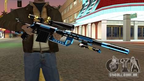 Fulmicotone Sniper Rifle para GTA San Andreas terceira tela