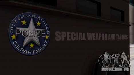 GTA 5 Enforcer S.W.A.T. para GTA San Andreas vista direita