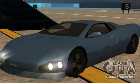 GTA 3 Infernus SA Style v2 para GTA San Andreas esquerda vista