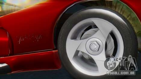Dodge Viper RT-10 1992 para GTA San Andreas traseira esquerda vista