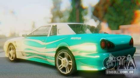 Elegy New Paintjob para GTA San Andreas esquerda vista