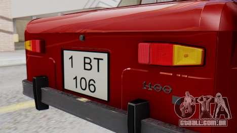 Dacia 1100 Sport para GTA San Andreas vista traseira