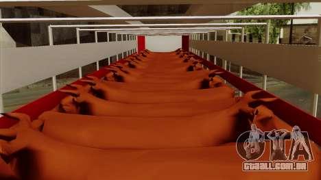 Trailer Cows para GTA San Andreas vista traseira