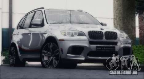 BMW X5M MPerformance Packet para GTA San Andreas vista direita