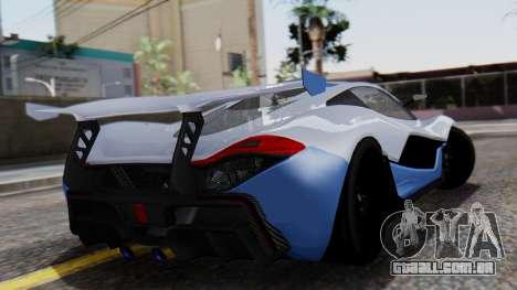 Progen T20 GTR para GTA San Andreas esquerda vista