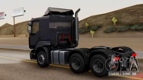 Renault Premuim 6x4 para GTA San Andreas esquerda vista